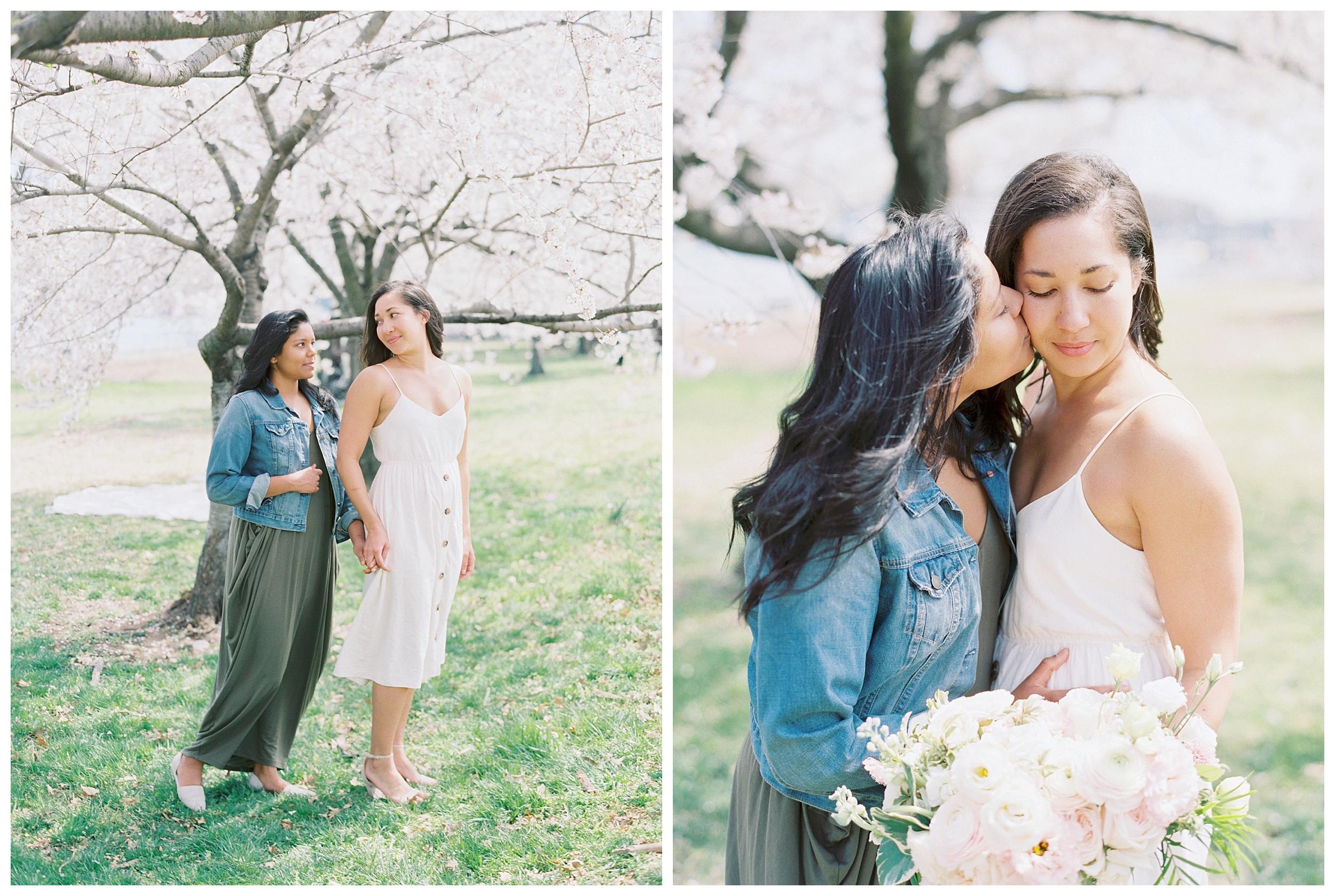 Same Sex DC Engagement | District of Columbia Cherry Blossom Engagement Kir Tuben_0017.jpg