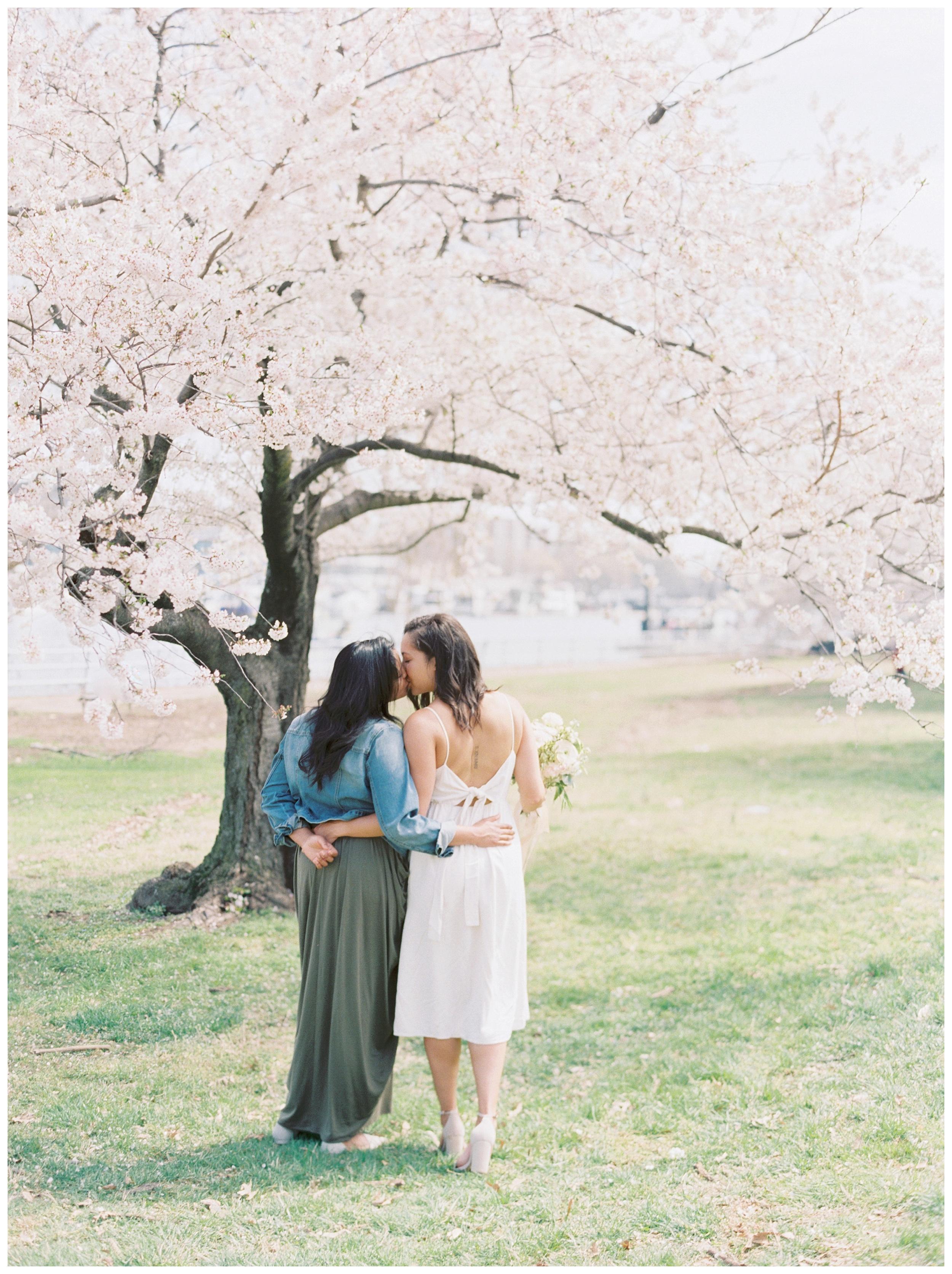 Same Sex DC Engagement | District of Columbia Cherry Blossom Engagement Kir Tuben_0026.jpg