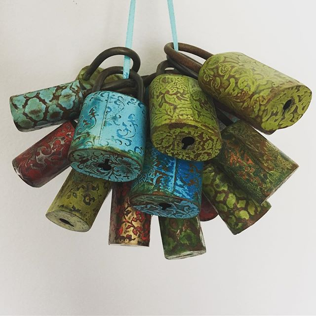 Leftovers... . . . . #collections #talismans #souvenirs #padlocks #steeljewelry