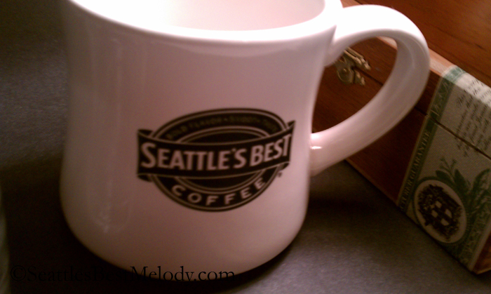 2 - 4 - 1557 Seattles Best white ceramic mug
