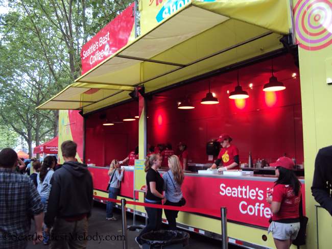 Seattle's Best Red Cup Truck - Sampling beverages 20July2012 - 5156