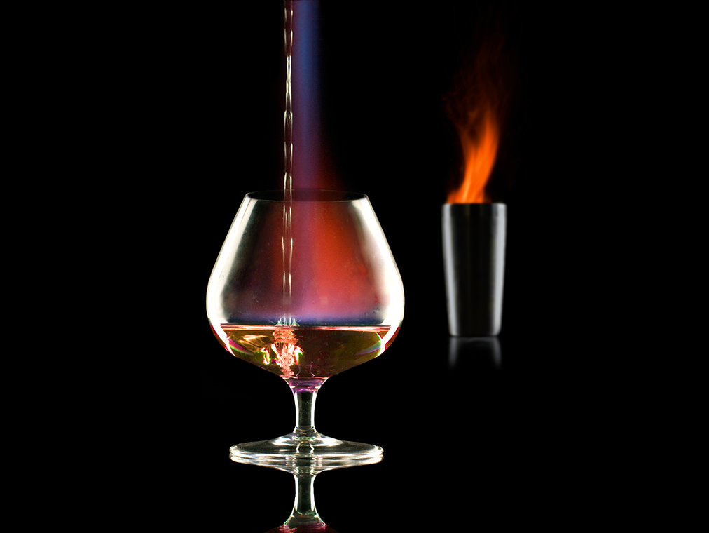 cocktails and fire