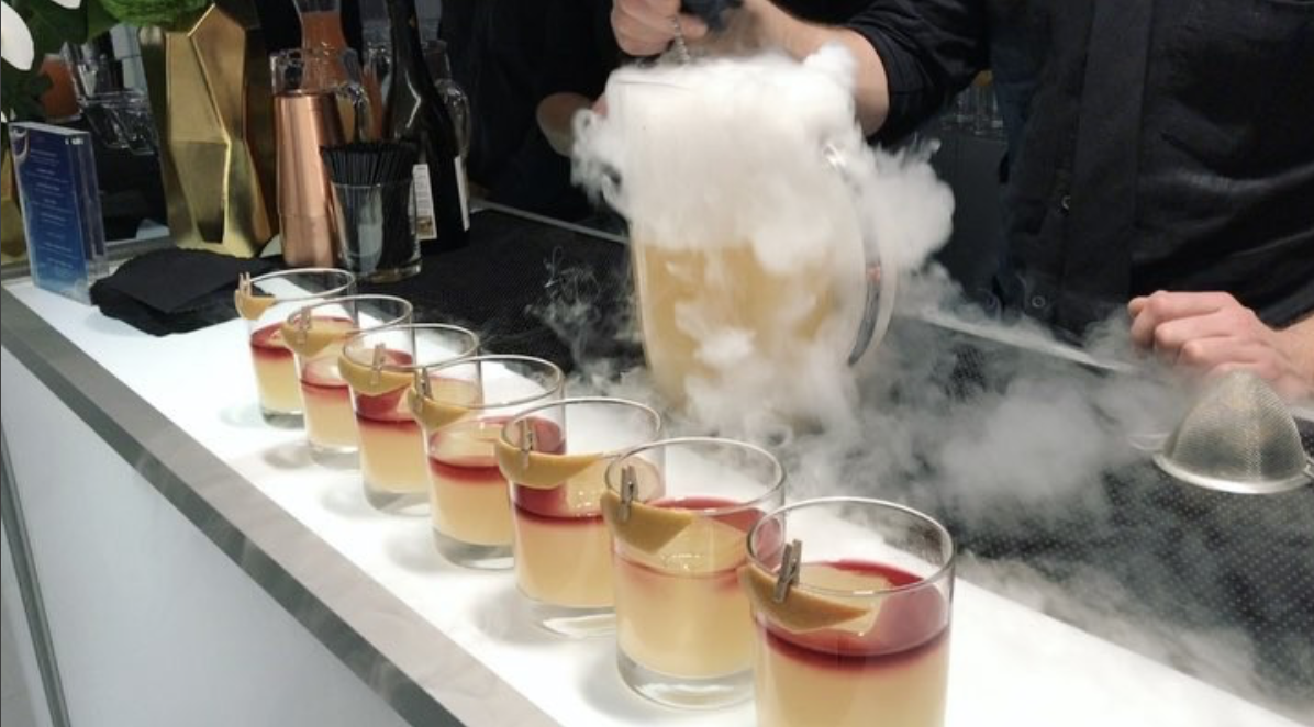 Dry Ice Chilled Cocktails.