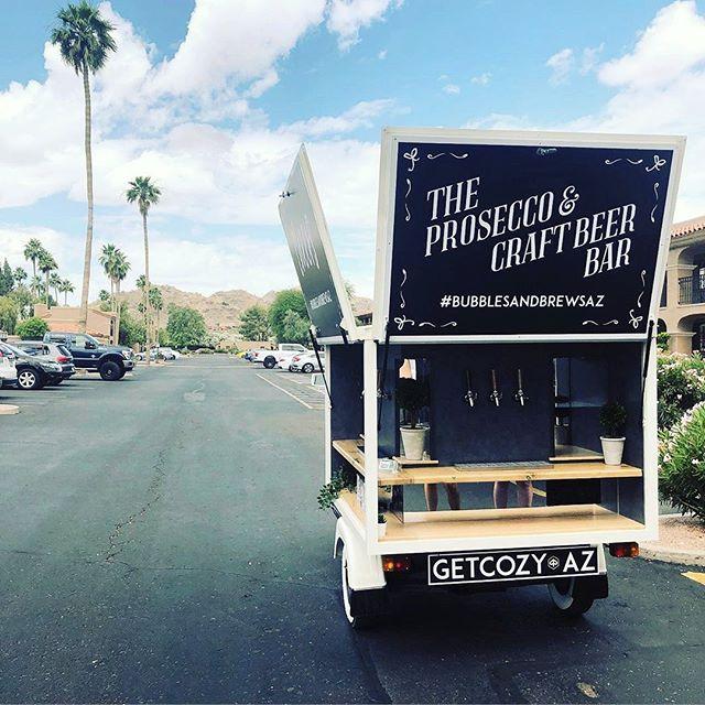 We're catching the next plane to Arizona...who's with us?! • • • #mobilebar #vintagemobilebar #proseccoontap #craftbeer #mobilebartending #arizonaweddings #mobilebarfranchise #partyplanner #prosecco