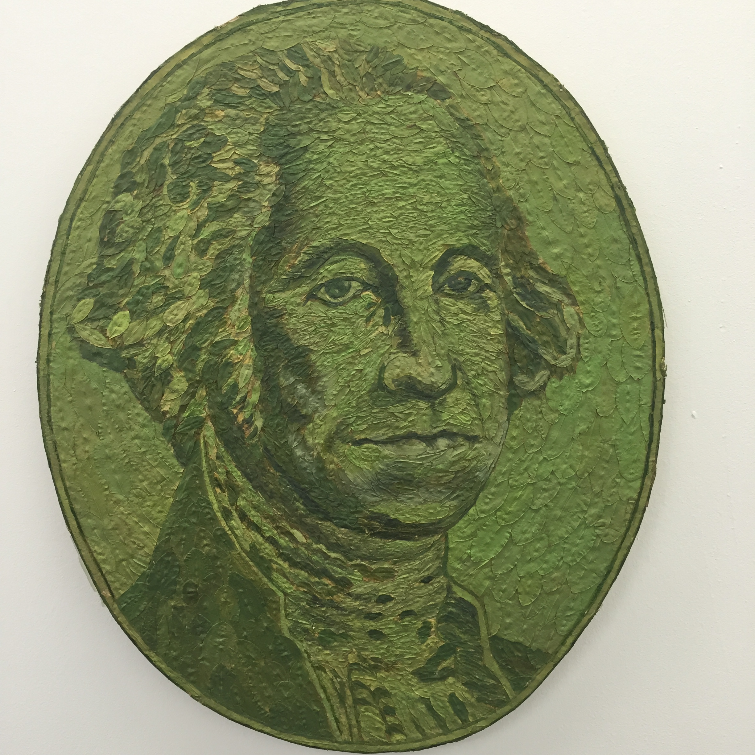 Series of Monetary related art using coca leaves as medium!