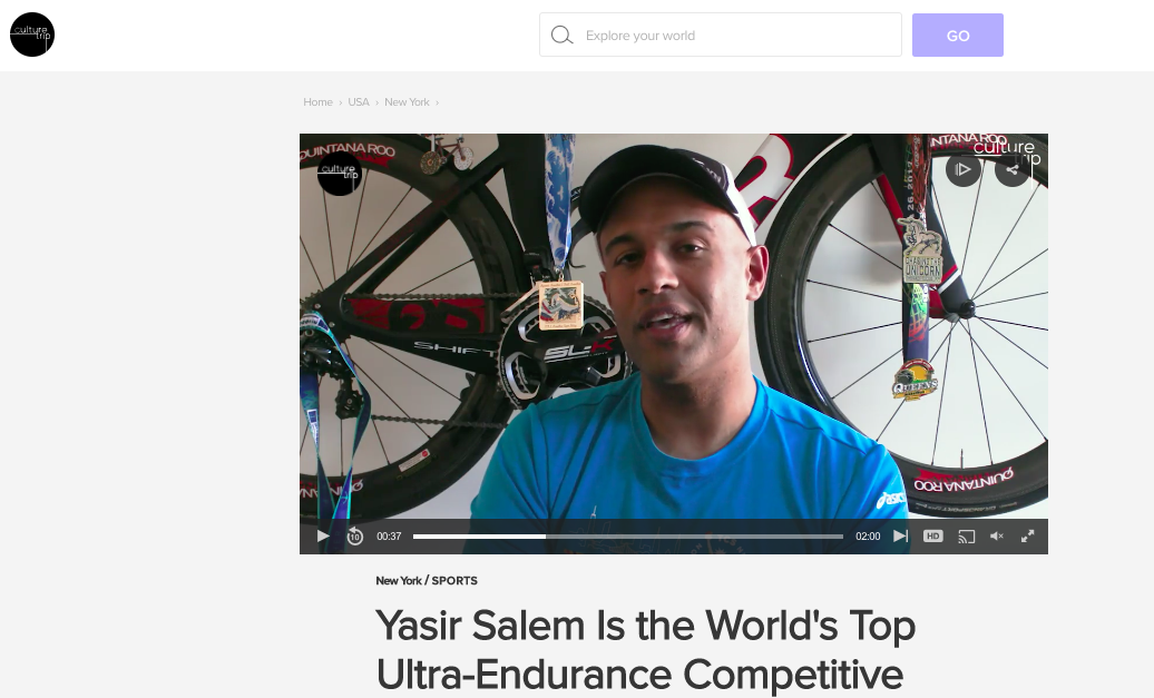 The Culture Trip: Profile of Yasir Salem