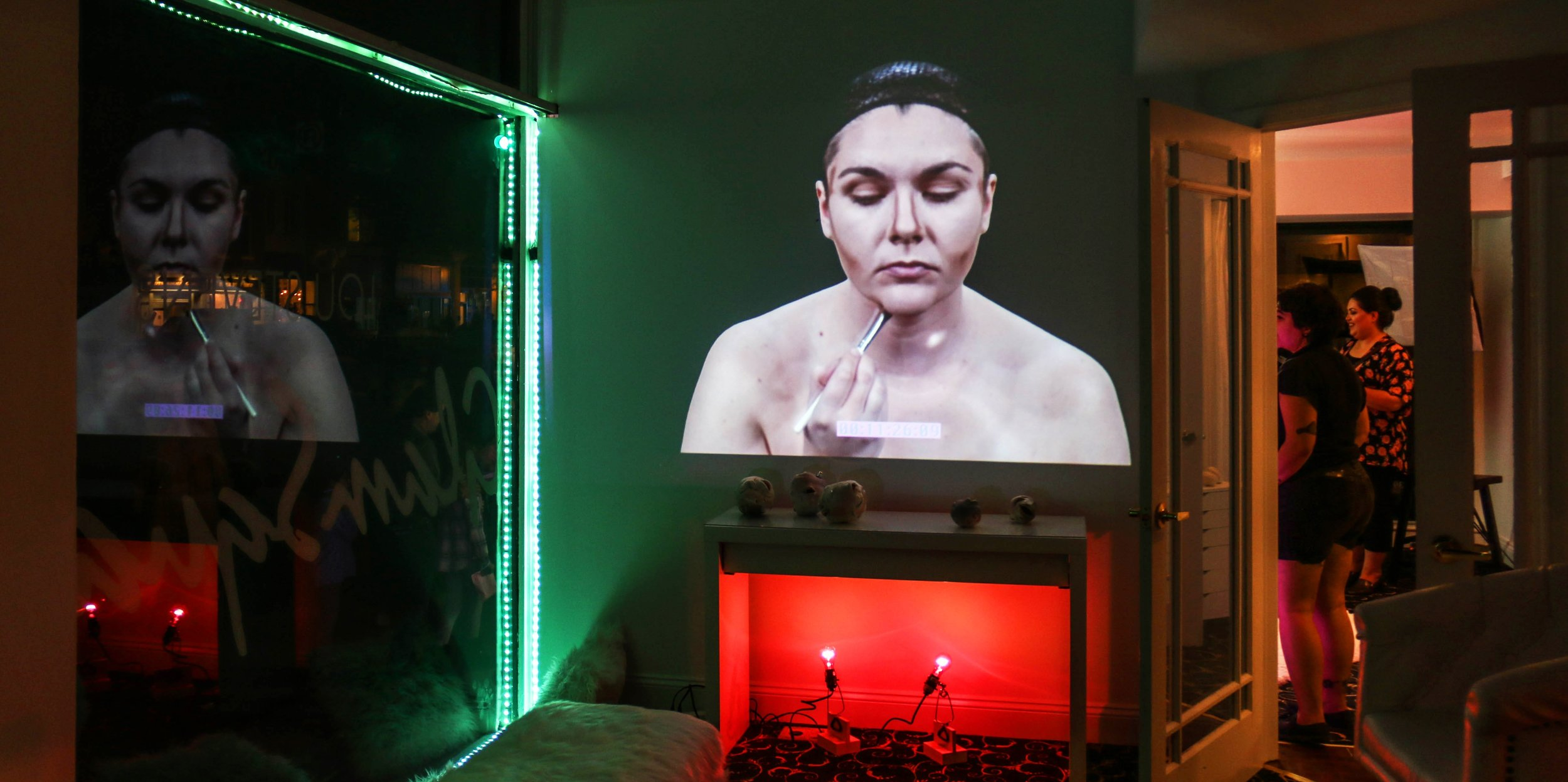 Become Her (installation view),porcelain, video, light.jpg