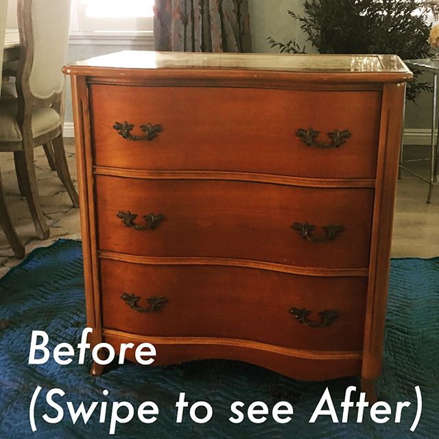 Furniture Facelift: took a drab dresser and made it a fabulously finished piece of furniture! #homedecor #refinished #paintedfurniture #painteddresser #southbaystyle #southbay #torrance