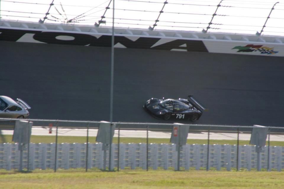 Customer track car running 194 MPH at Daytona.