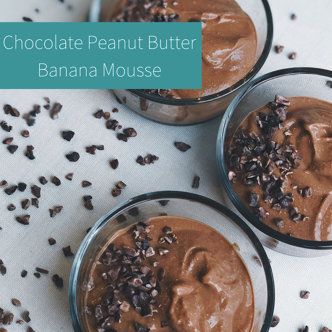 Chocolate Peanut Butter Banana Mousse
