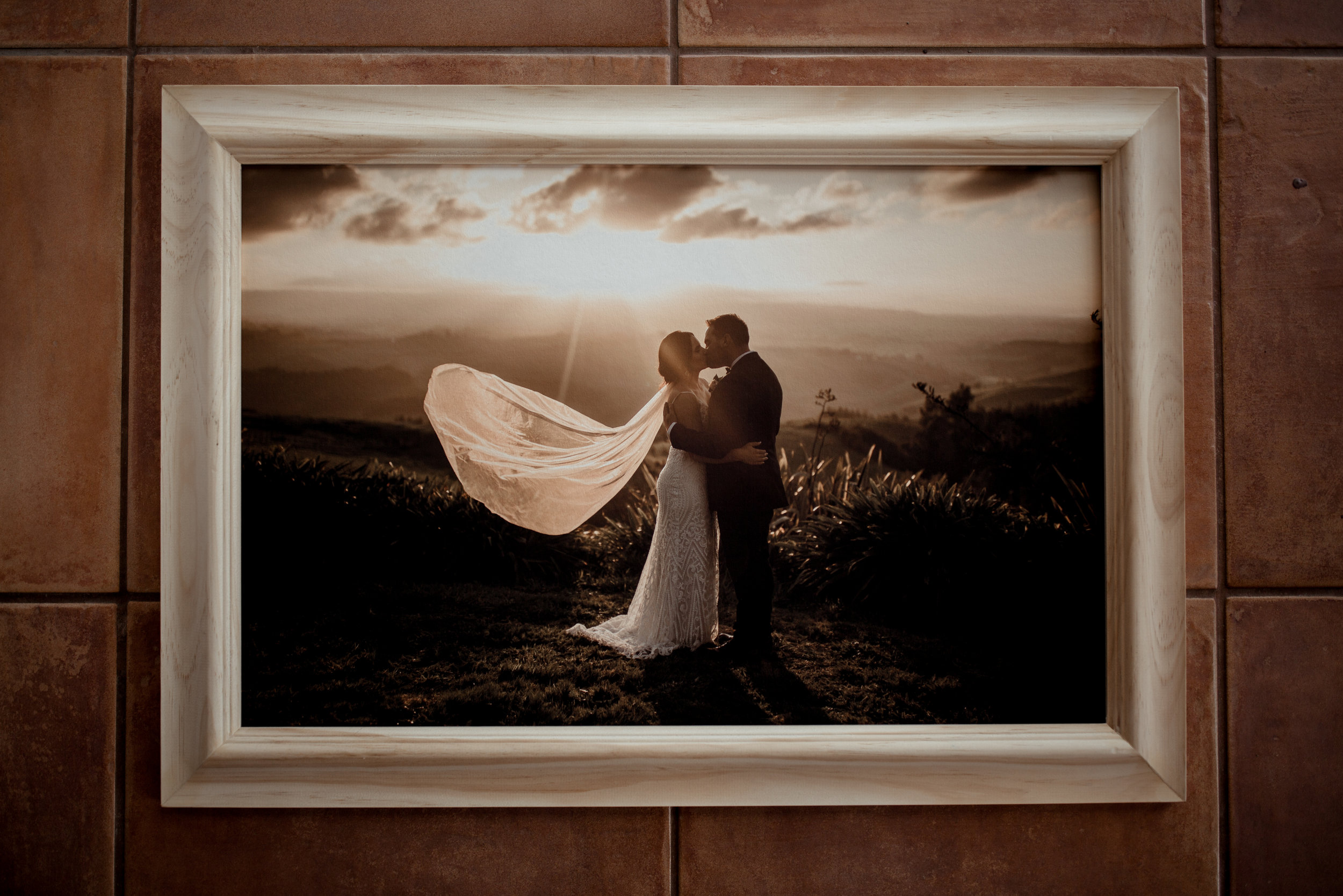 Fine Art Prints - These textured, museum quality fine art prints are an amazing way to show off your spectacular moments, framed in gorgeous raw wooden frames that really pop and bring your moments to life.