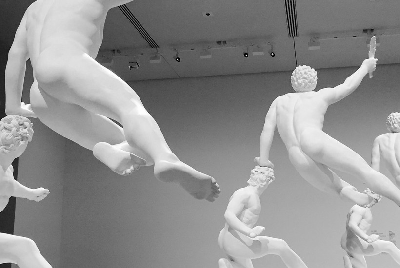 Eternity-The Soldier of Marathon Announcing Victory, A Wounded Galatian  (2014) by Xu Zhen (image via Purple Mag)