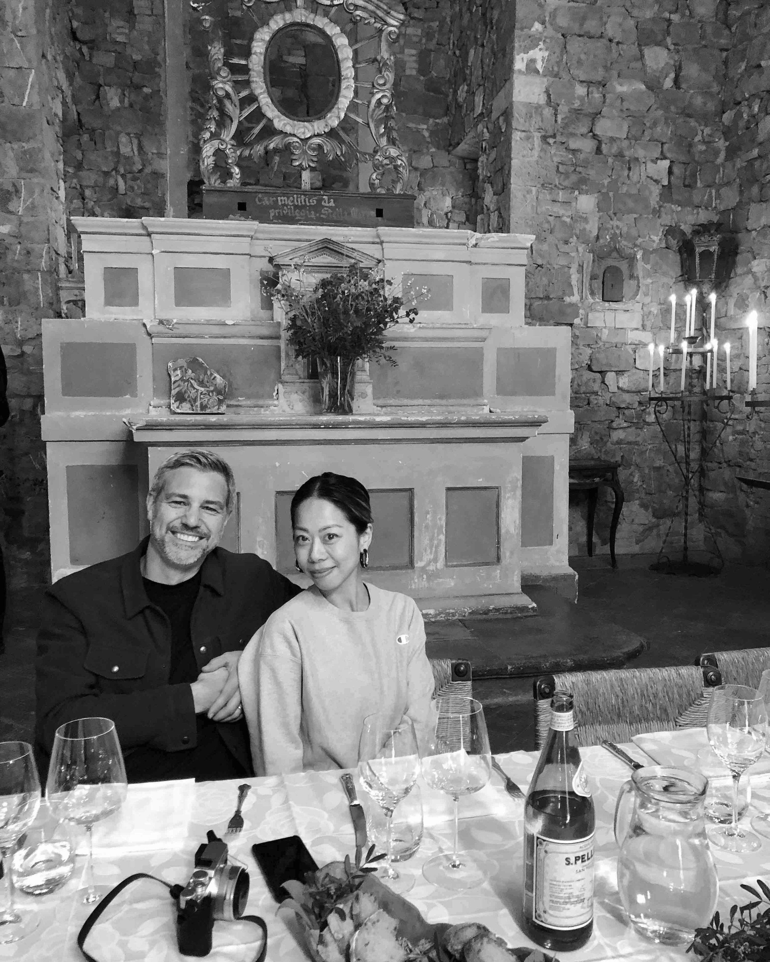 Helen Homan Wu and Peter Cole, CEO of Design Hotels™  (Marriott International), Pienza Tuscany Tour