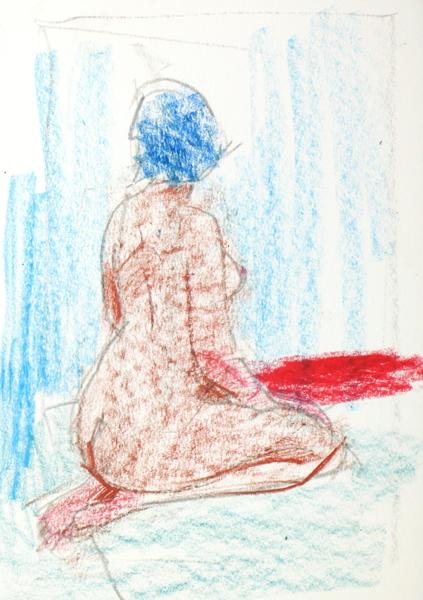 blue kneel