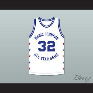 0b469b69f00 Magic Johnson 32 White 1989 Midsummer Night's Magic 1.jpg. Magic Johnson 32 Magic  Johnson All Star Game White Basketball Jersey ...