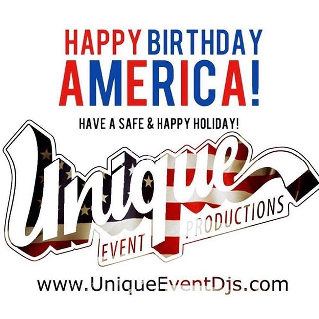 Have a happy and safe 4th of July, from the Unique Event Productions family • • • • •  #FourthOfJuly #ThinkDifferentlyBeUnique #BeUnique #StatenIsland #NewJersey #Fireworks