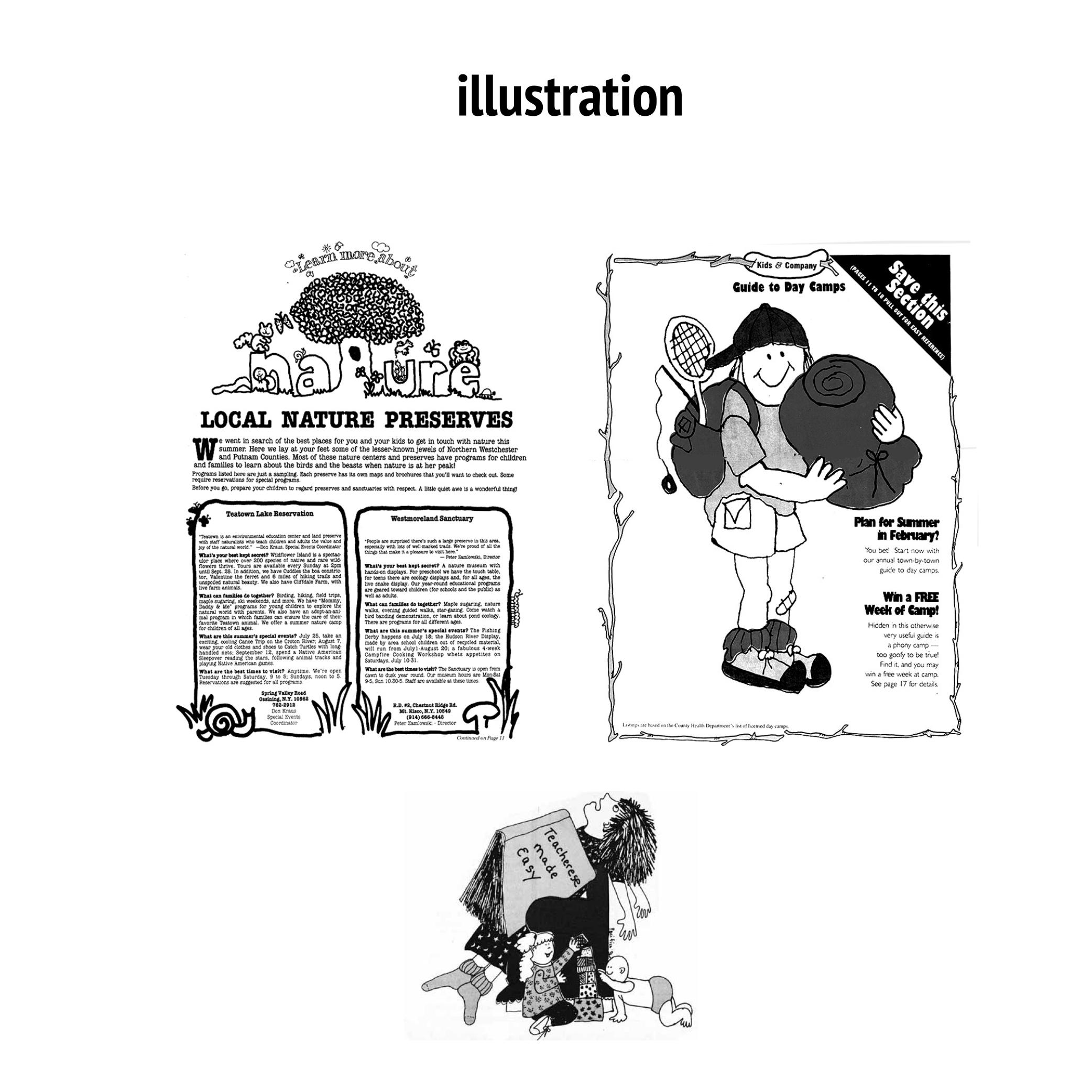 kids magazine editorial design & illustration