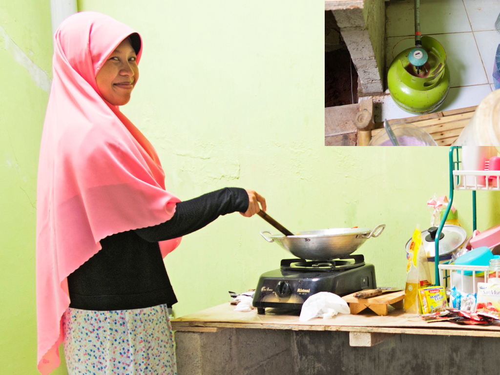 LPG, not solar panels, are the substitute for wood fuel for Suparti and in many parts of the developing world. (Indonesia, 2015)