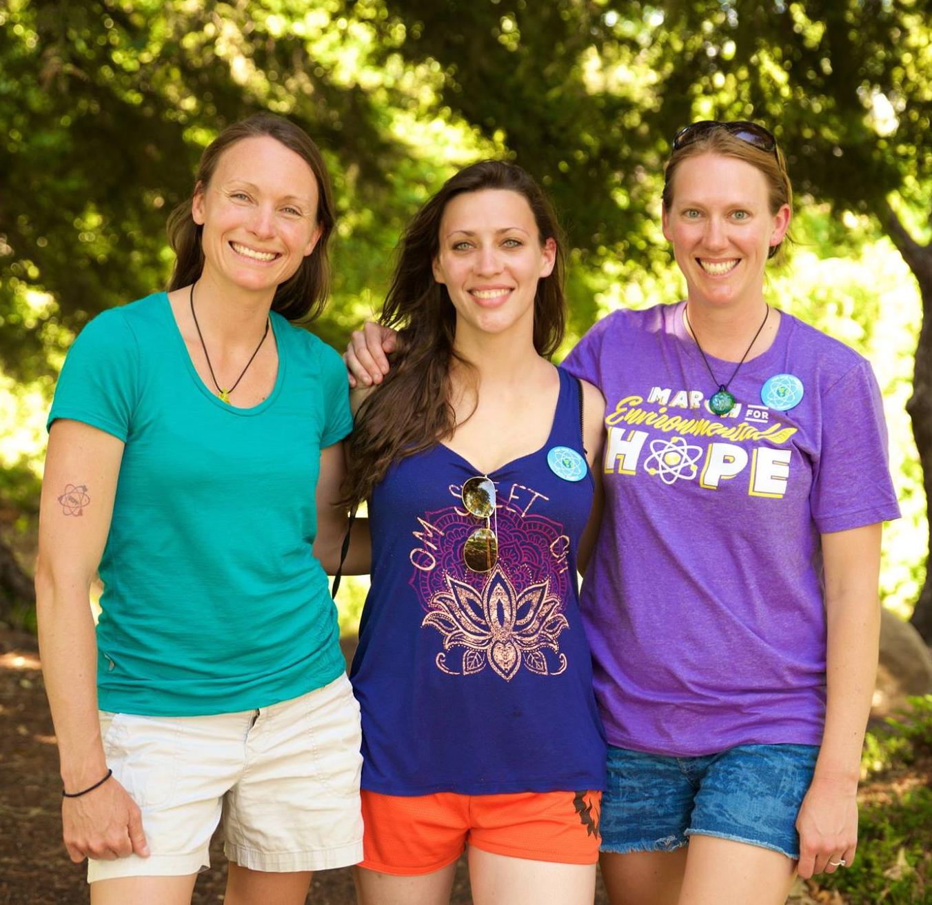 Kristin Zaitz (Diablo Canyon, CA), Sarah Spath (Ginna, NY) and Heather Matteson (Diablo Canyon, CA) on the March for Environmental Hope! June 24 - 28, 2016