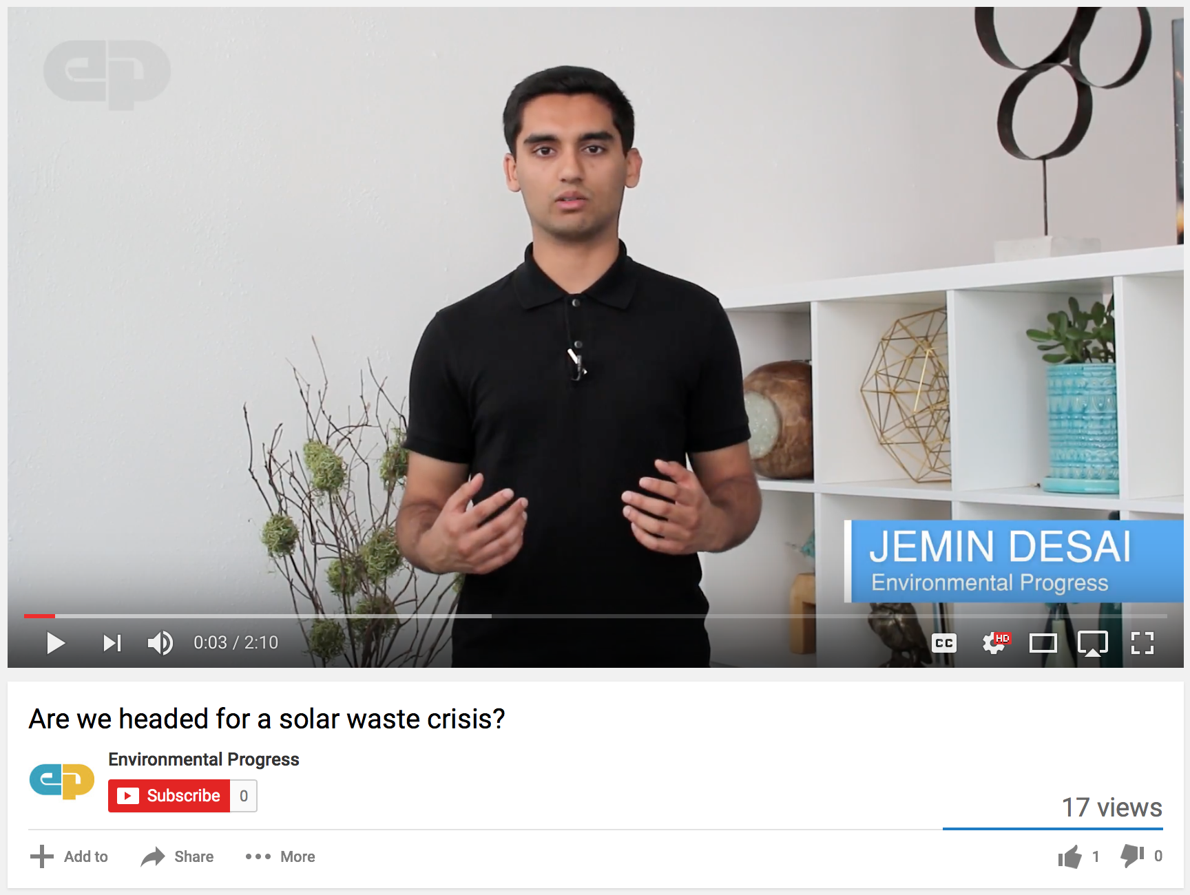 Youtube video By 2017 fellow Jemin Desai
