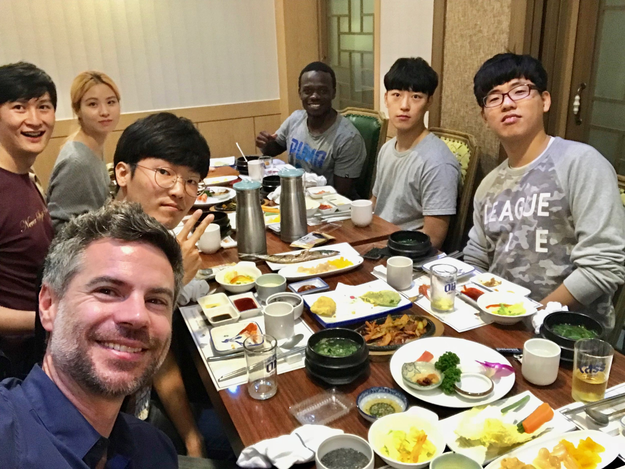 The author with nuclear engineering students at KAIST, South Korea's MIT