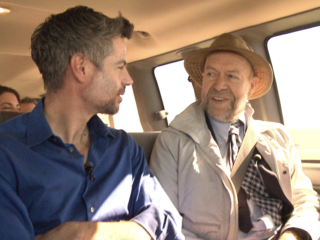 EP President Michael Shellenberger with EP Senior Science Advisor and climate scientist James Hansen as they travelled through Illinois to (successfully) save its nuclear plants.