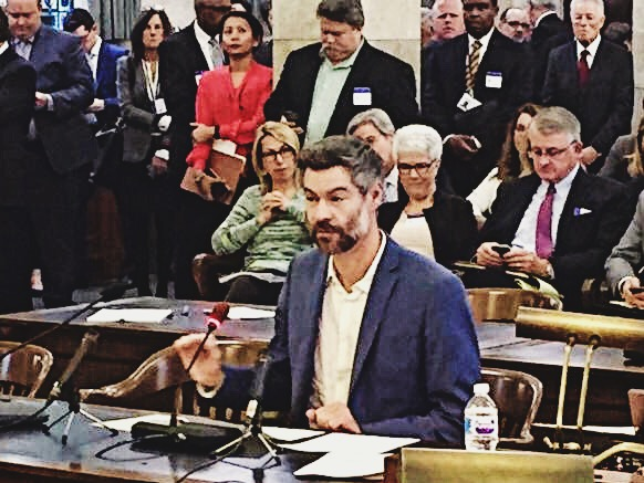 EP President Michael Shellenberger testifying before New Jersey Senate