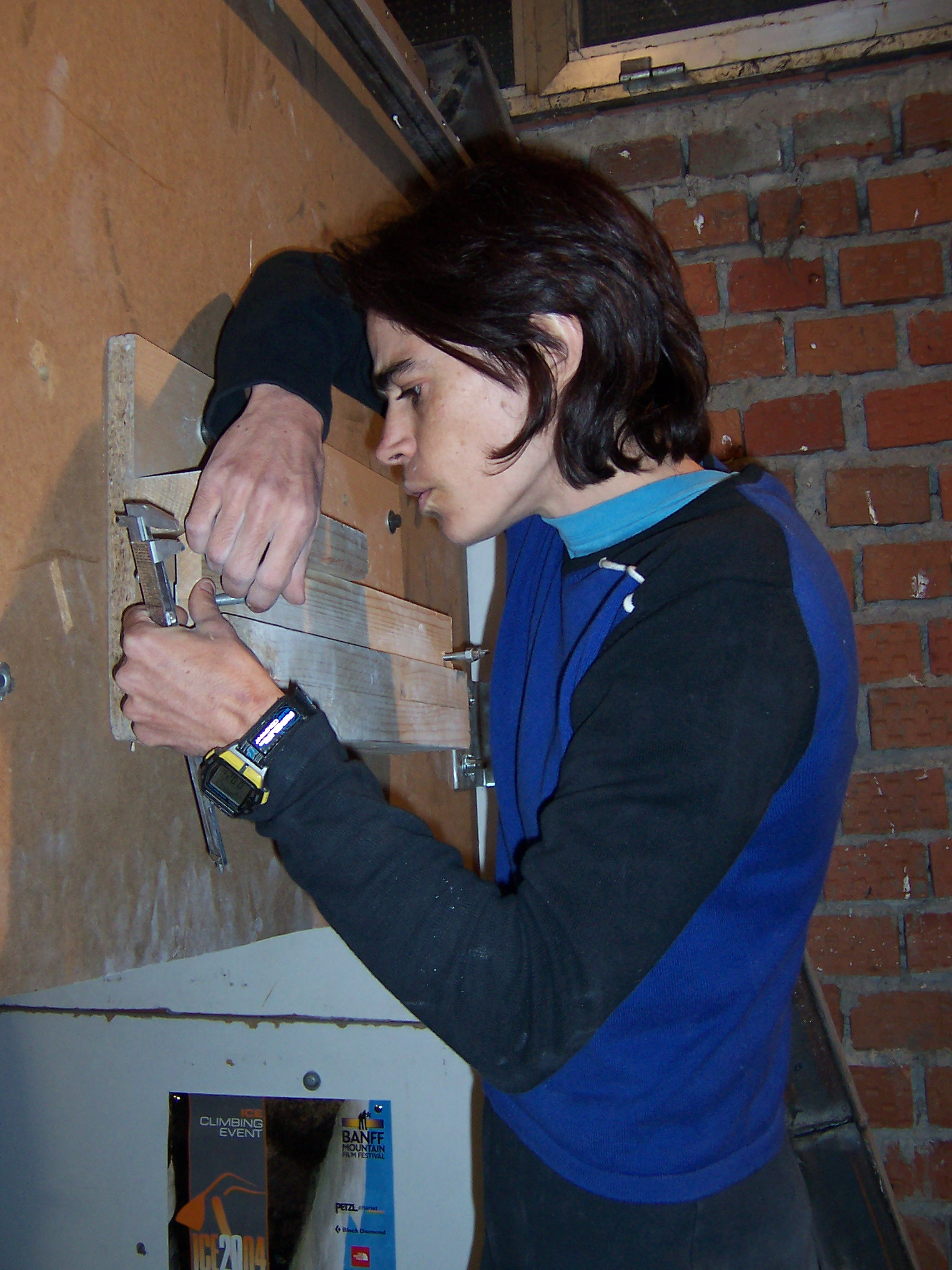 Eva building her first prototype for research purposes, circa 2004.