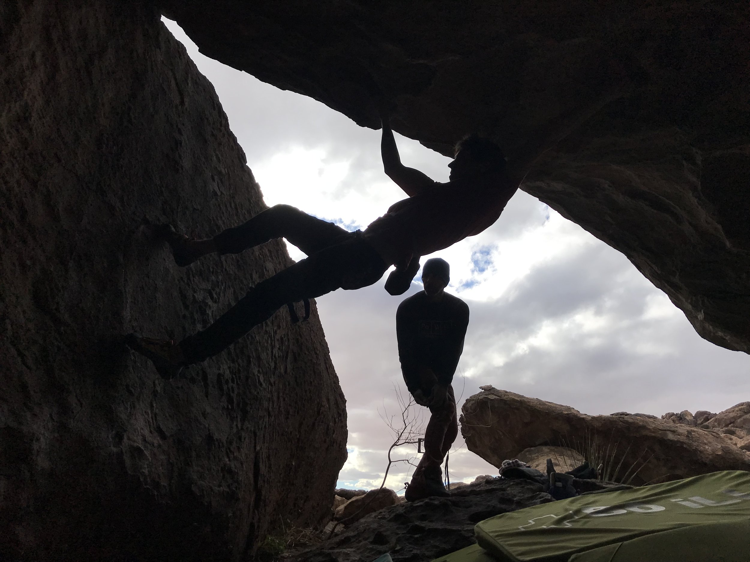 Circuiting to build all-day fitness. AKA repeating Kris's projects in his face! But for real, he smashed this one right after me. ( Flower Power  V10)