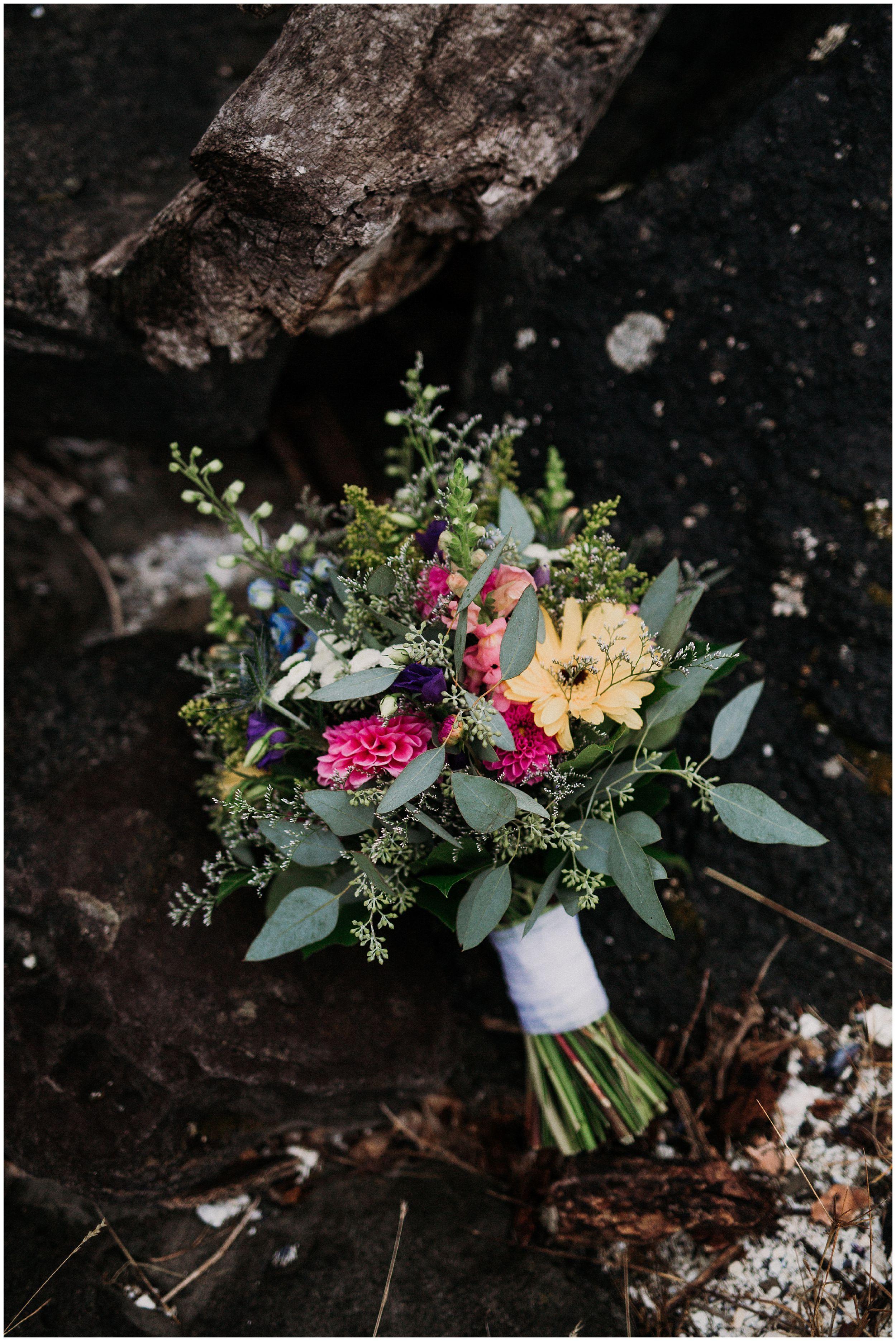 Newcastle Island BC Wedding lady bug floral 3
