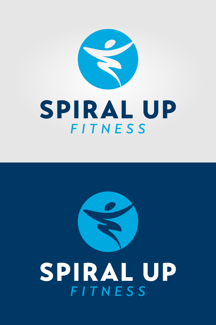 personal-trainer-logo-blue-abstract-figure-spiral-up-fitness