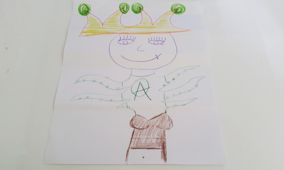 Example of an Exquisite Corpse Drawing