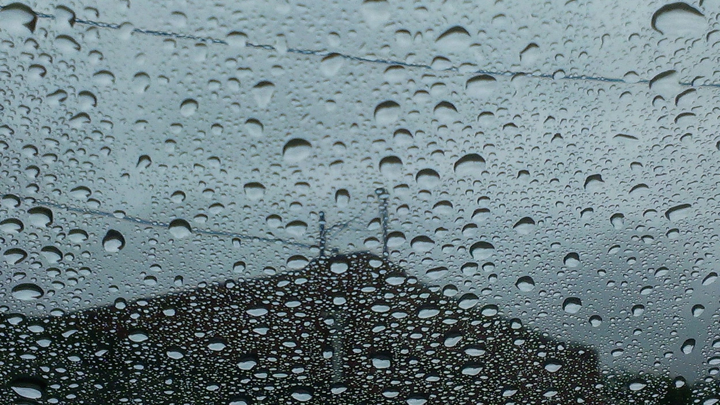 Raindrops on rooftops.