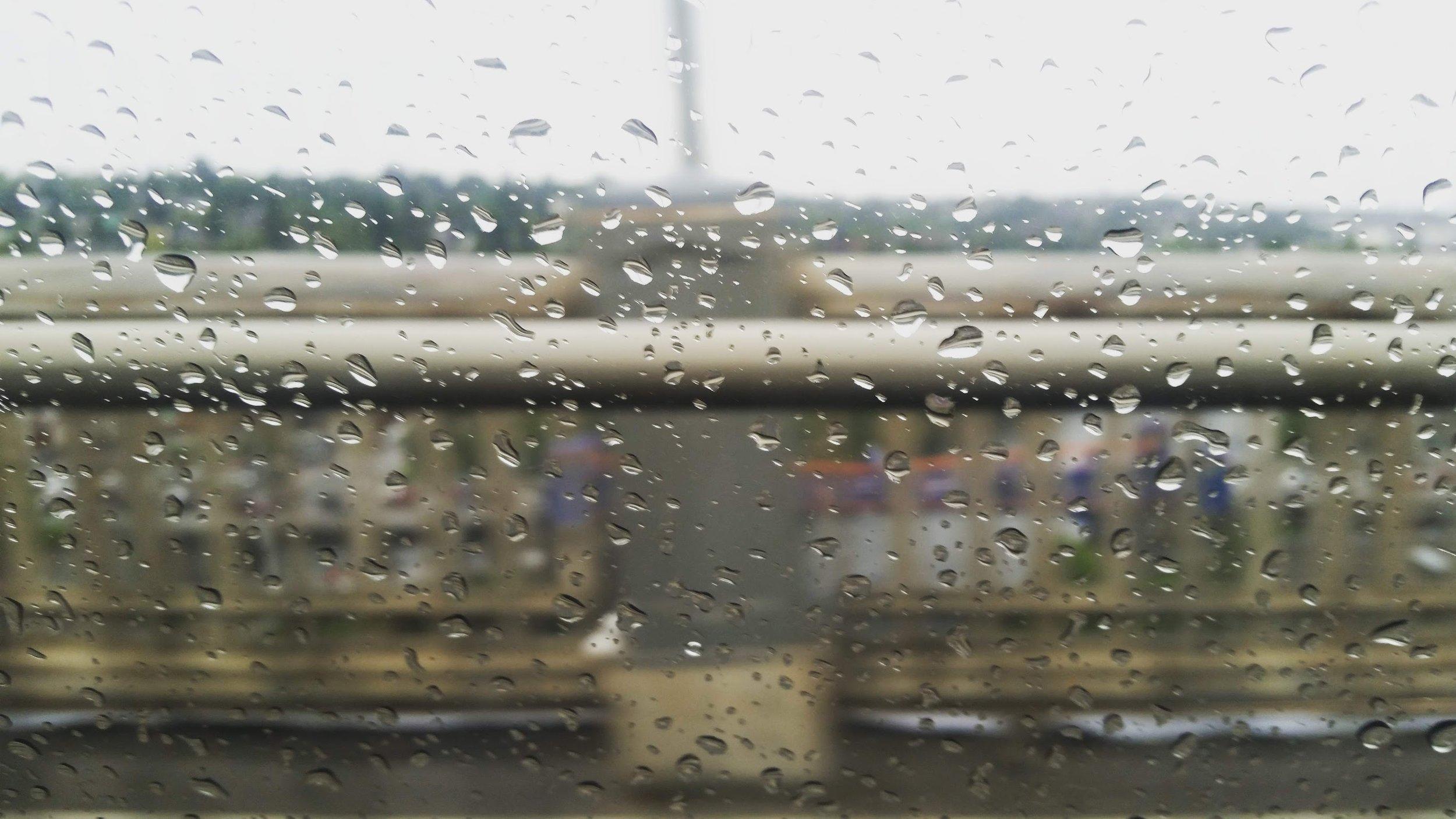 Rainy day in Los Angeles.