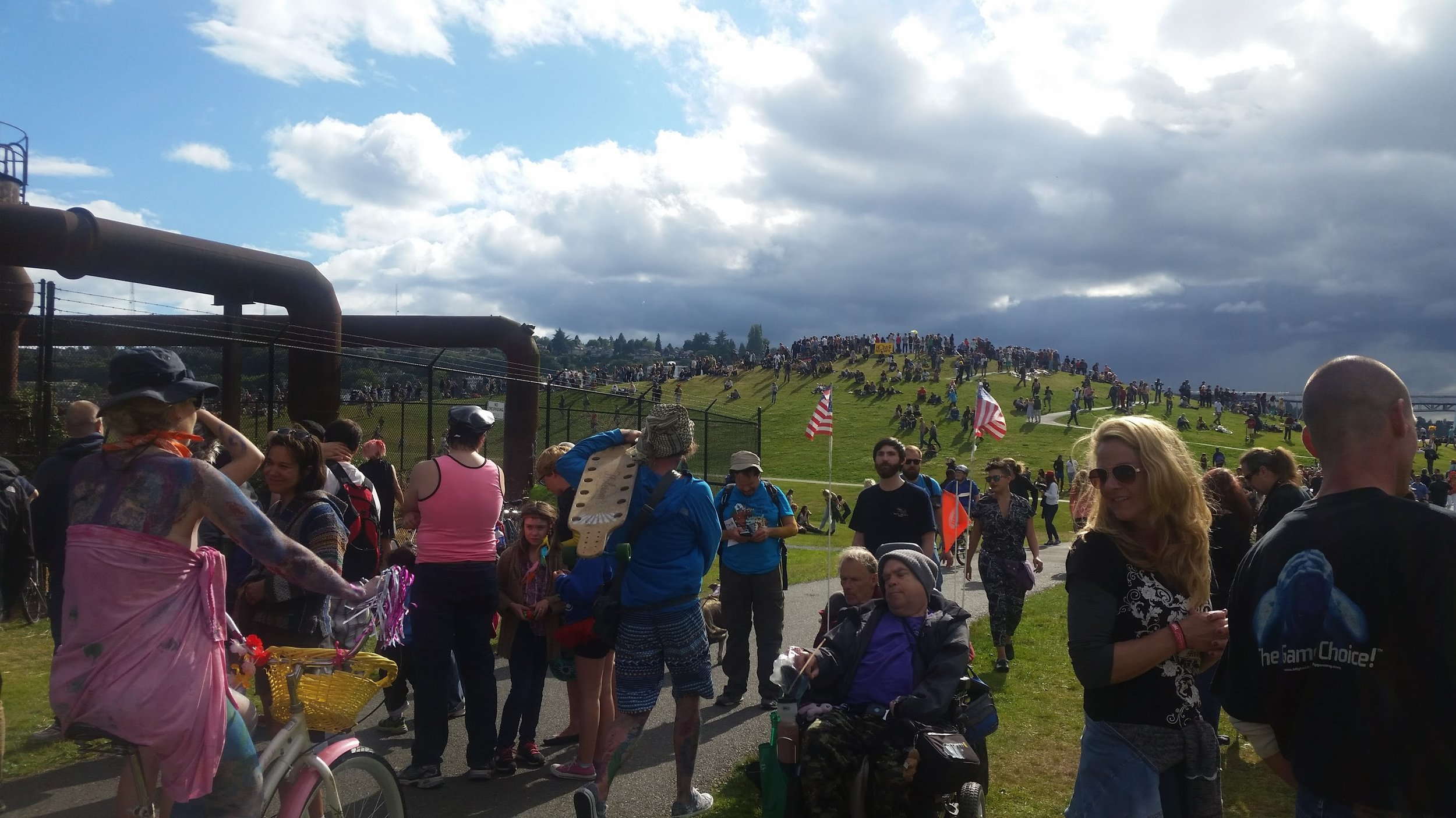 Not Earth Day at Seattle's Gas Works Park, but how I imagine it would look during an Earth Day celebration.