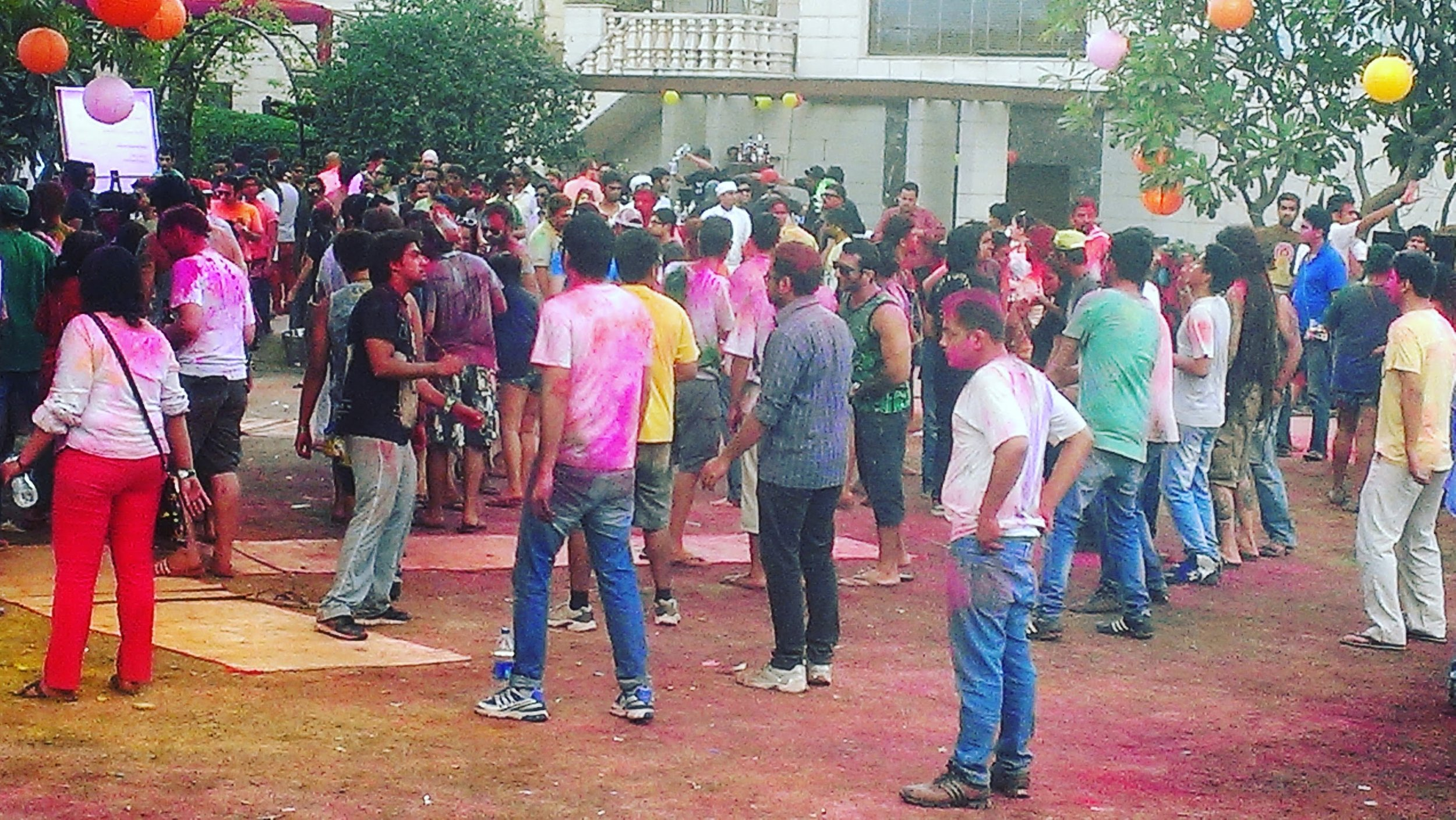 Minimizing other things to experience Holi