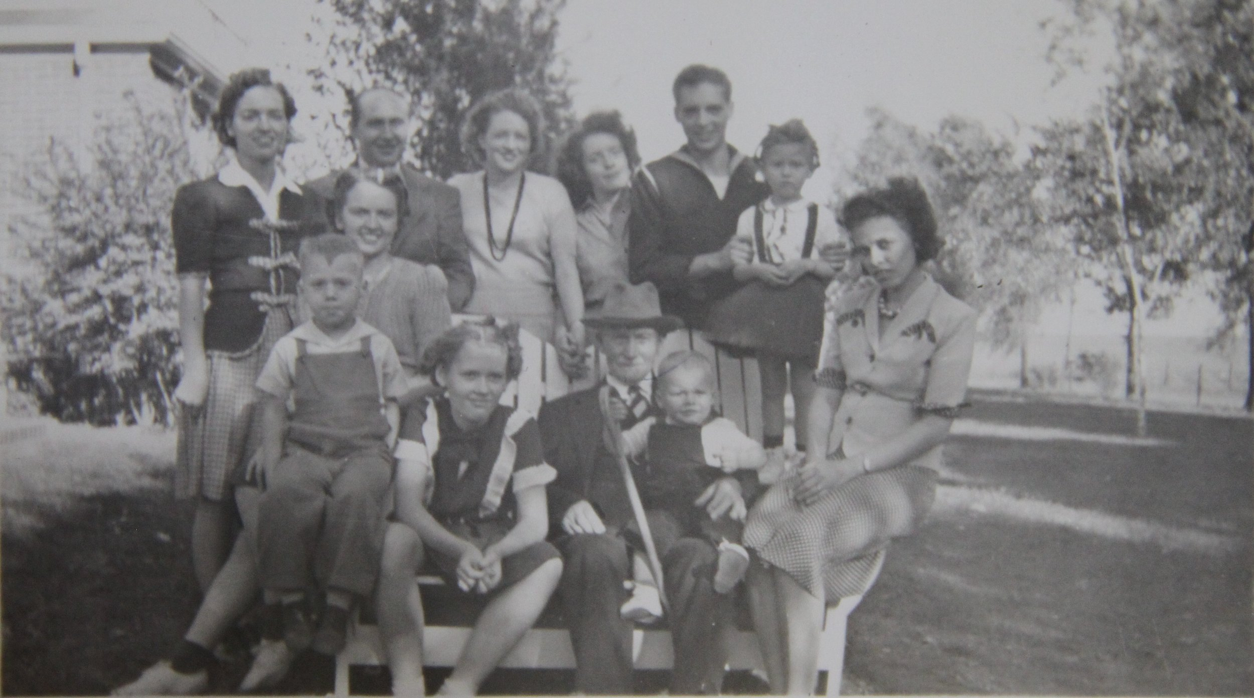 Not my actual family, but it looks like my grandparents' backyard in the Midwest.