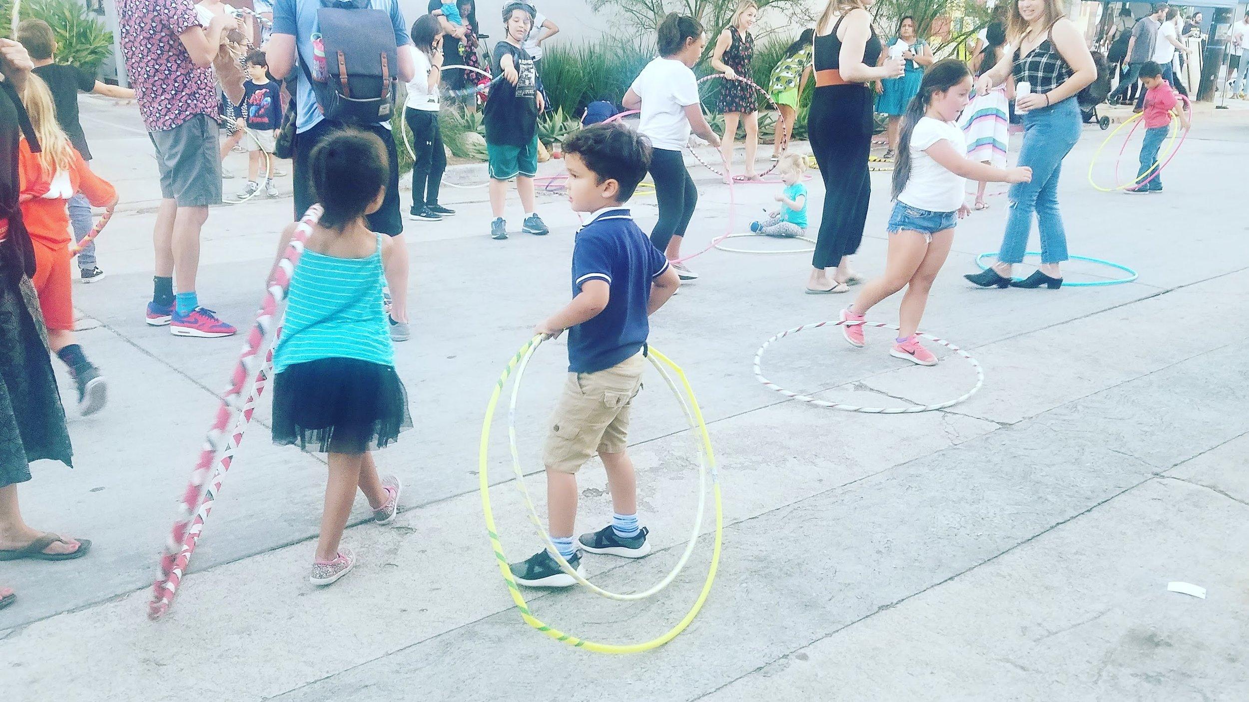 Hula hooping is exercise folks!