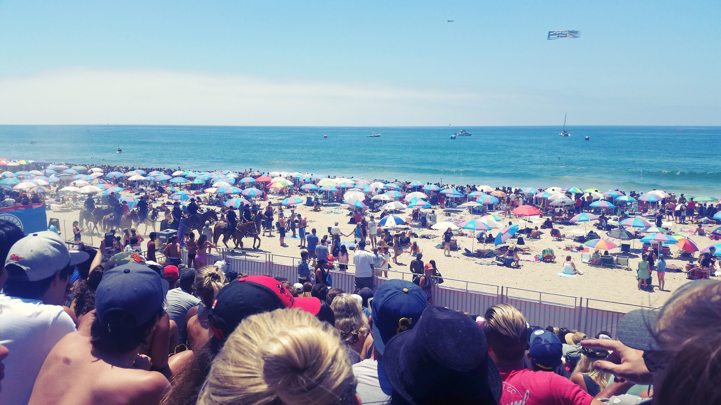 U.S. Open of Surfing in Huntington Beach. About as summer as you can get in Southern California.