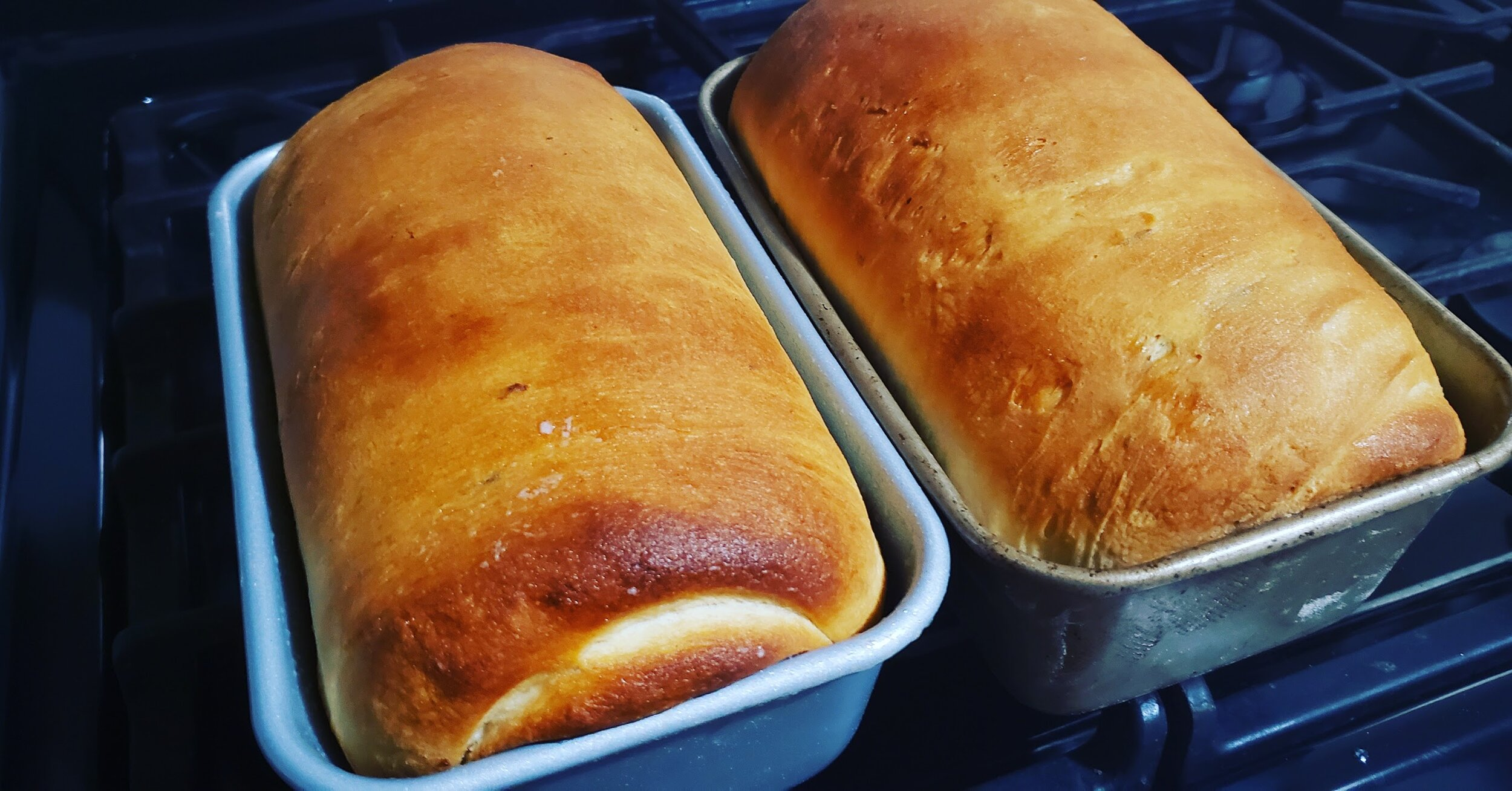 Some supremely delicious, fresh baked bread loaves