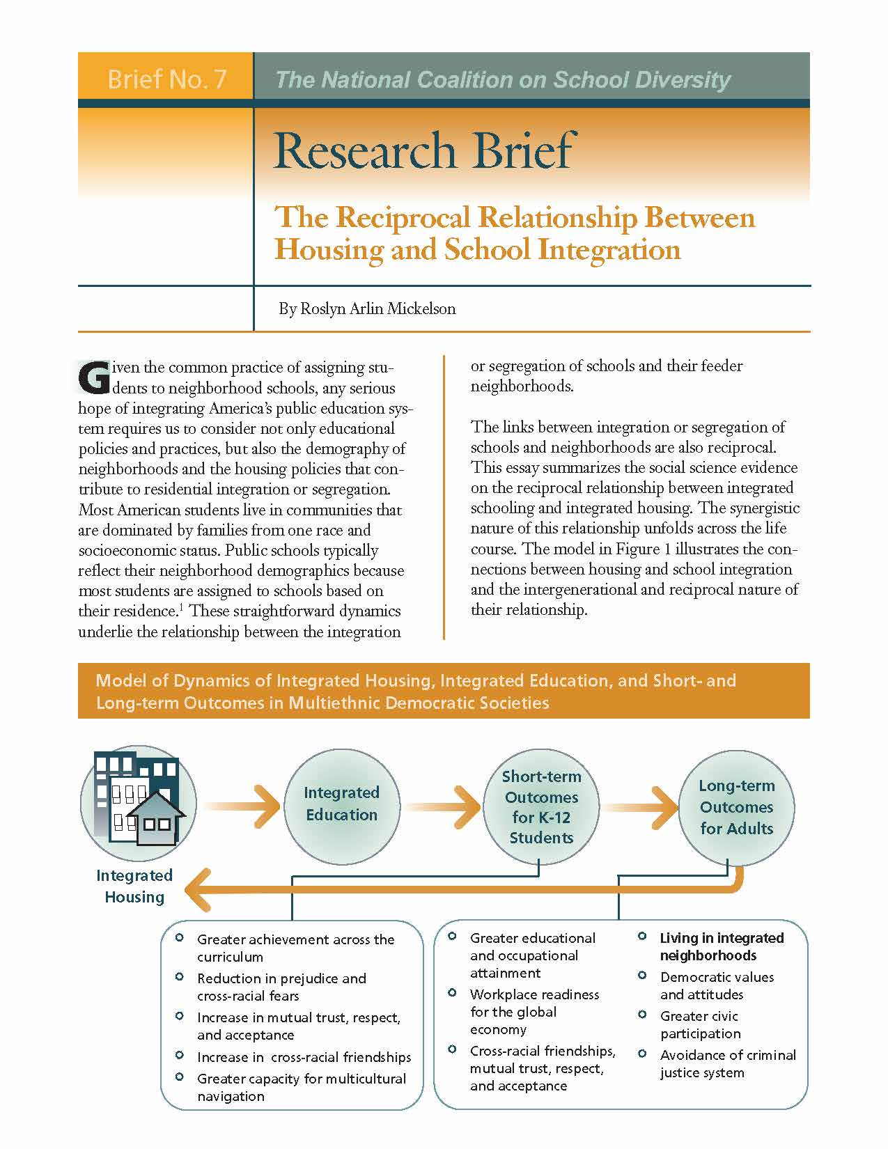Research Briefs - The National Coalition on School Diversity