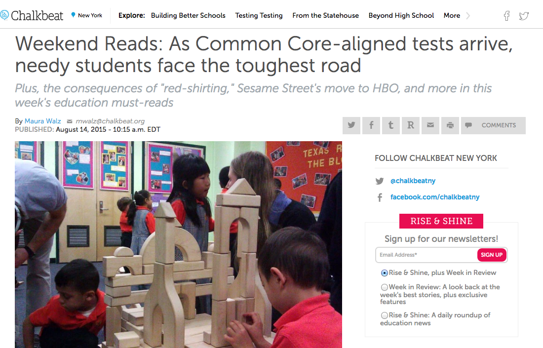 "Chalkbeat - ""Common Core"""