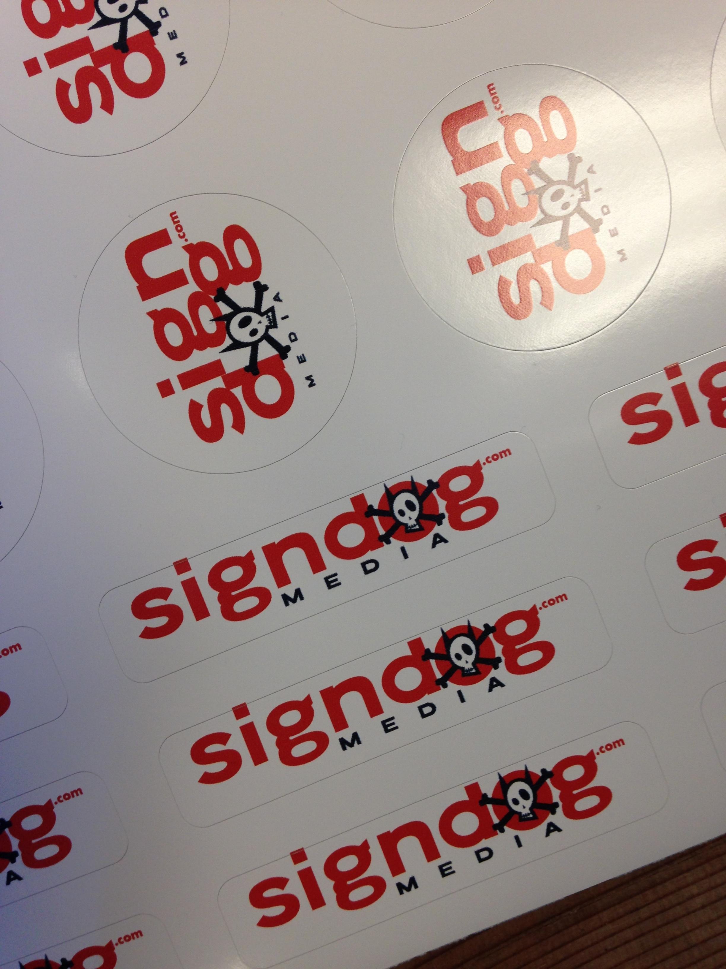 Stickers / Decals Printed & Die Cut