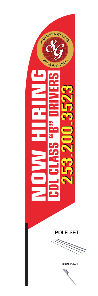 - FEATHER FLAGS14' TALL FEATHER• Sign is made out of Polyester fabric• Print is on one side. Backside is a mirror print. Double sided is available for an additional $85 • Includes telescoping pole and ground spike for a complete kitprice $148.00 Ea +tax