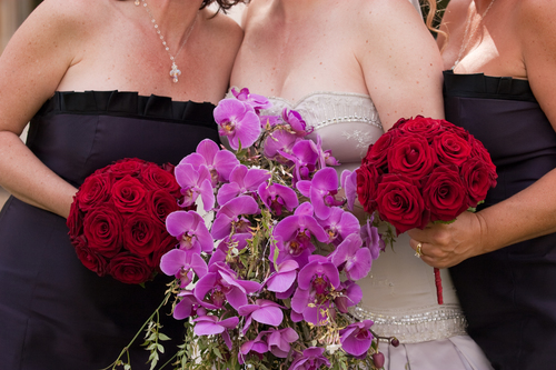 Bride & Bridesmaids Bride Wedding Bouquet and Bridesmaids bouquets.jpg