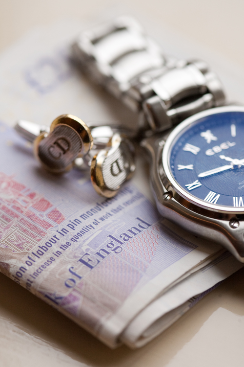 Grooms Ebel Watch and Christian Dior Cufflinks .jpg