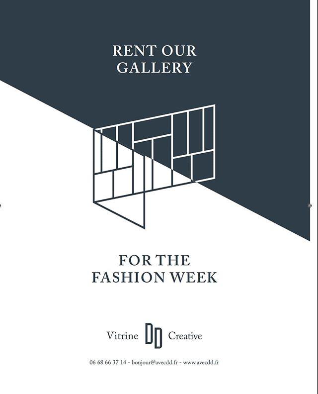 Créateurs ! Investissez la @vitrine_dd durant la #fashionweekparis ! . . . . . #fashionweekparis #fashionweek #showroom #showroomparis #galleryforrentparis #marais #muséepicasso