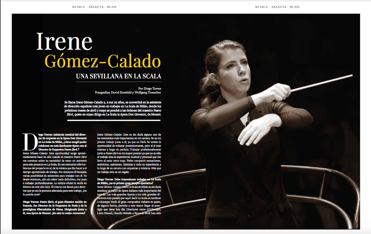 Irene Gómez-Calado, a Sevillian in la Scala. -