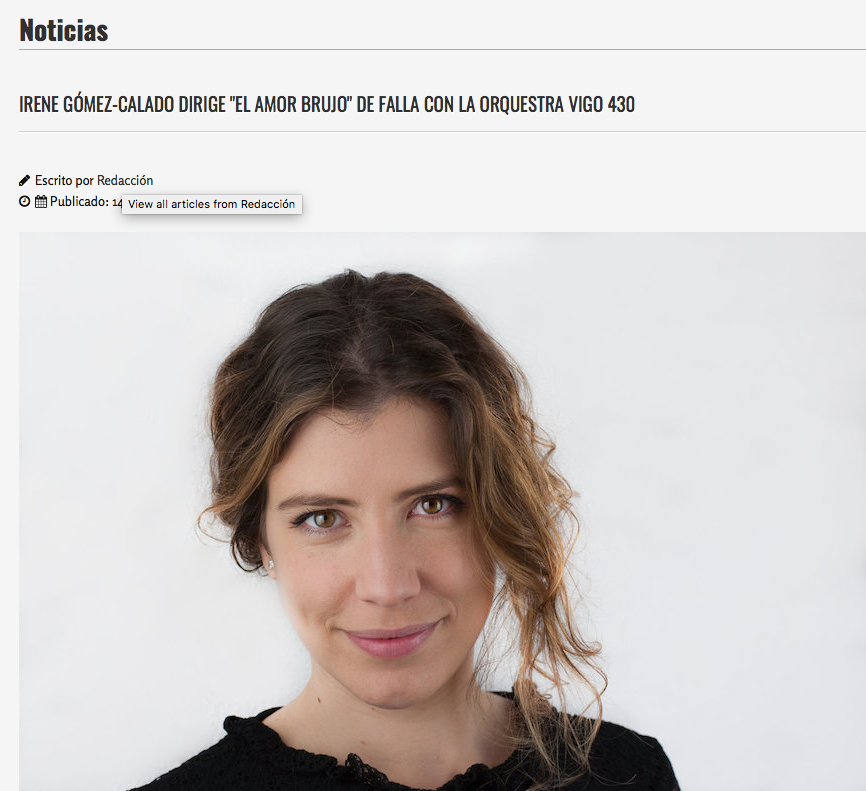 Platea Magazine - Irene Gómez-Calado dirige