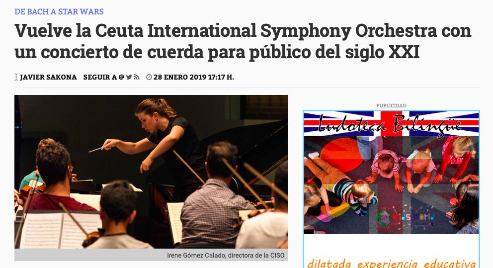 """""""Vuelve la CISO"""" un concierto para el público del siglo XXI -"""